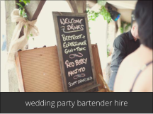 hire a cocktail bartender for a wedding party