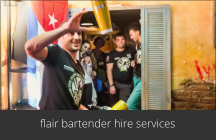 flair bartender hire services
